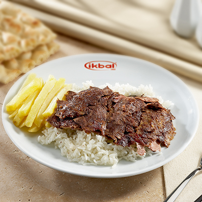 Doner Kebab on Rice